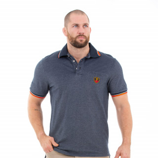Polo homme manches courtes bleu French rugby club
