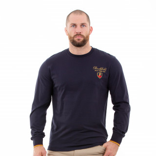 T-shirt marine manches longues french rugby club homme