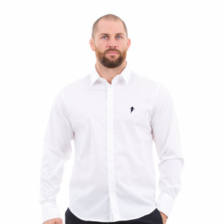 Chemise manches longues homme blanche