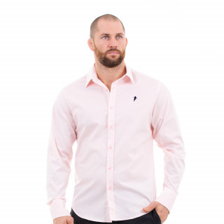Chemise manches longues homme rose