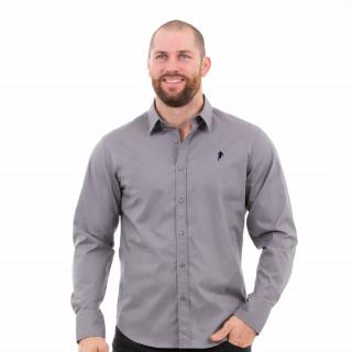 Chemise manches longues homme grise