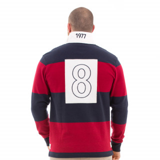 Polo de rugby à rayures vintage