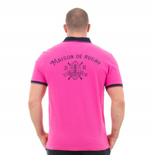 Polo maison de rugby rose