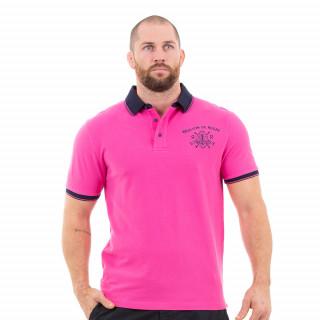 Polo manches courtes maison de rugby rose