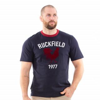 T-shirt vintage manches courtes bleu rugby pour homme