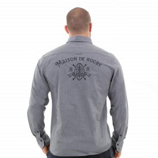 Chemise gris foncé homme