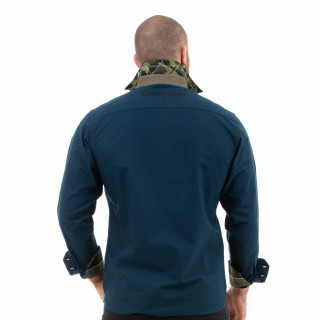 Chemise homme bleu rugby camps