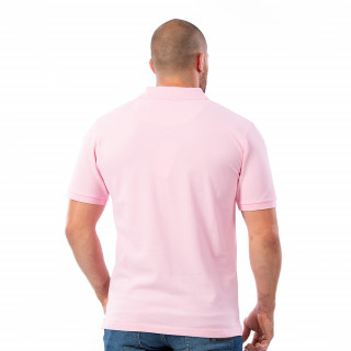 Polo homme rugby rose