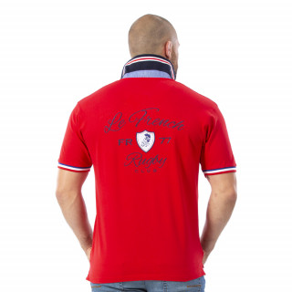 Polo French Rugby rouge