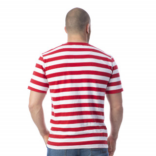 T-shirt marinière rouge