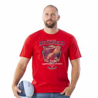T-shirt à manches courtes rouge 100% coton bio.