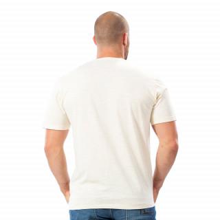 T-shirt flowers blanc