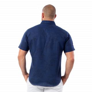 Chemise beach rugby bleu