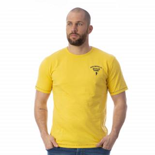 T-shirt jaune rugby 100% coton slub bio.