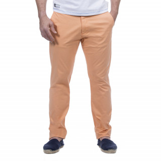Pantalon homme chino orange en coton.