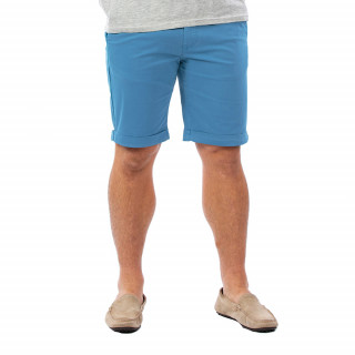 Bermuda homme chino bleu en coton.