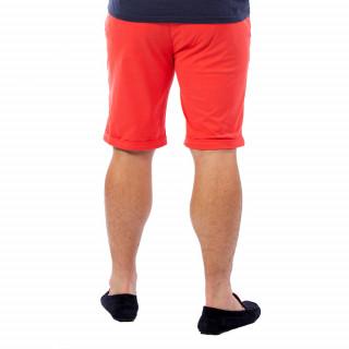 Bermuda homme chino rouge