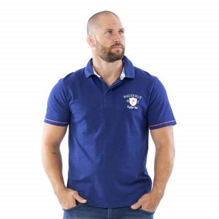 Polo Rugby Bleu 100% coton slub.