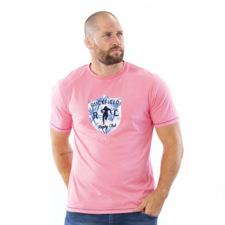 T-shirt rose Palm Beach 100% coton.