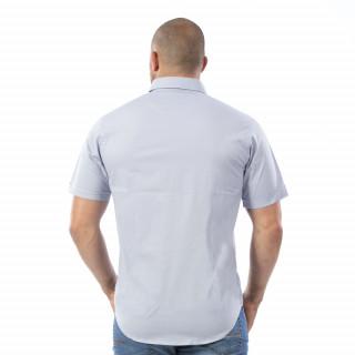 Chemise grise à manches courtes Rugby Essentiel