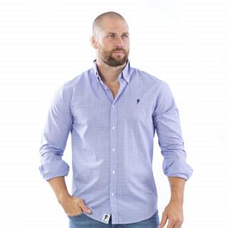 Chemise bleu à carreaux