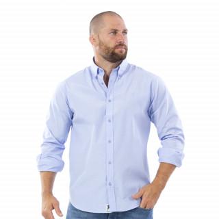 Chemise manches longues bleu