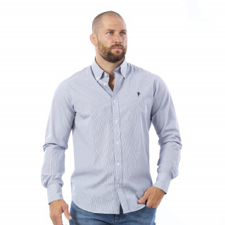 Chemise gris clair à manches longues Rugby