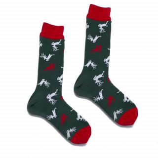 Chaussettes de Noël vertes en coton.