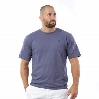 T-shirt basique bleu 100% coton bio.