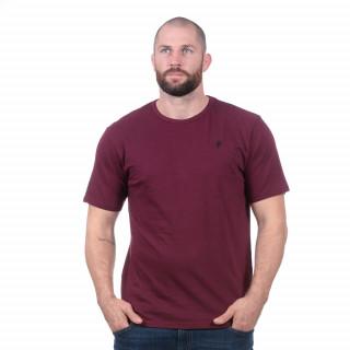 T-shirt basique bordeaux 100% coton bio.