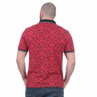 Polo rouge Maori manches courtes