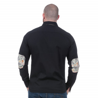 Chemise noire Rugby d'Automne