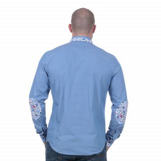 Chemise Rugby à manches longues bleue