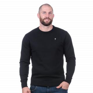Pull essentiel noir 50% coton 50% acrylique.