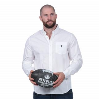 Chemise rugby essentiel blanche 100% coton.