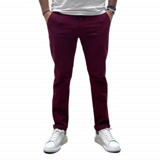 Pantalon chino essentiels bordeaux