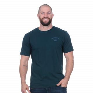 Tee-shirt flowers of rugby bleu canard avec broderie dos et poitrine