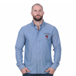 Chemise manches longues French rugby club bleu clair
