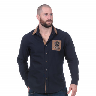 Chemise manches longues Rugby héritage marine
