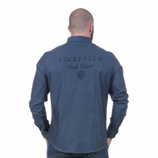 Chemise à manches longues Rugby Elégance bleue