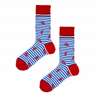 Chaussettes à rayures rouges