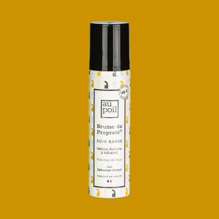 Brume de propreté 70ml, soin barbe, par Sébastien Chabal. À l'eau de musc et fabriqué en France.