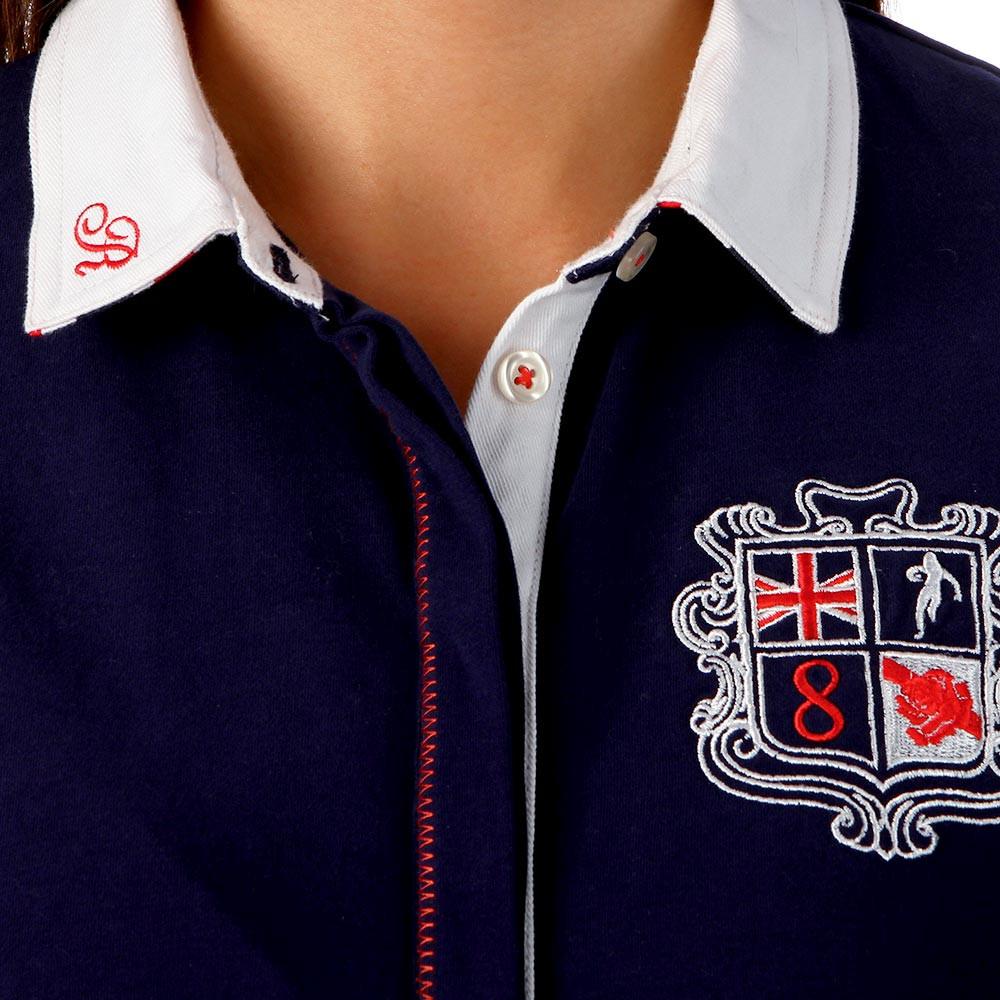 Union jack polo woman ruckfield for Union made polo shirts