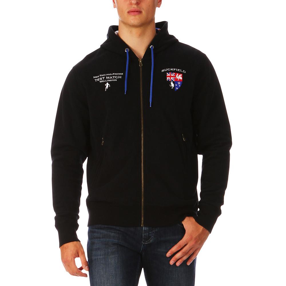 c8e79eca0ca Black Zipped Sweatshirt Hooded - RUCKFIELD