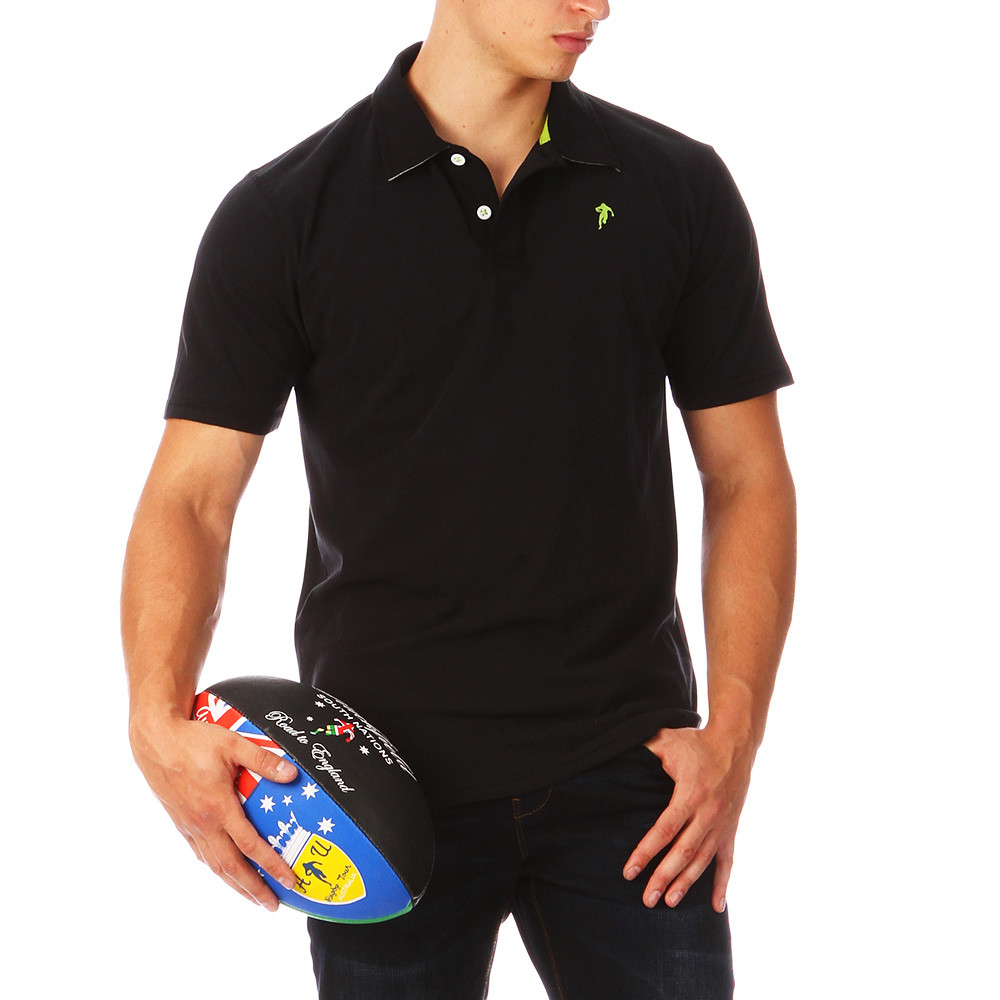 ruckfield black polo polo shirts short sleeves top. Black Bedroom Furniture Sets. Home Design Ideas