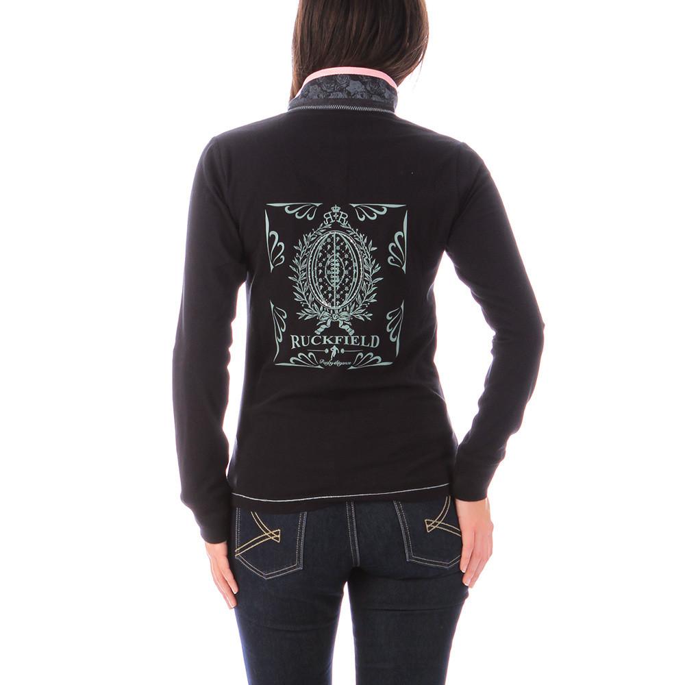 women 39 s black polo shirt ruckfield ruckfield. Black Bedroom Furniture Sets. Home Design Ideas