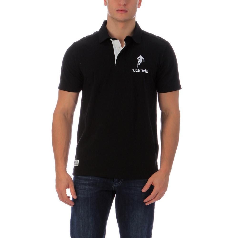 Rugby Black Polo Shirt Chabal Ruckfield