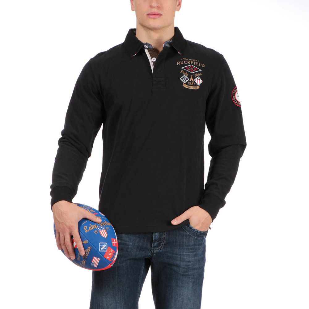 Polo rugby outdoor noir ruckfield for Big and tall polo rugby shirts