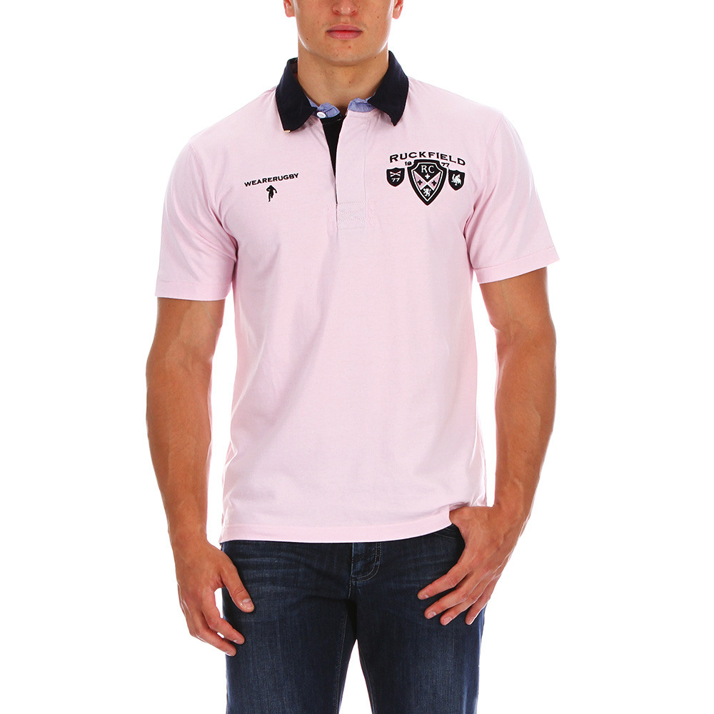 1977 Pink Rugby Polo Shirt