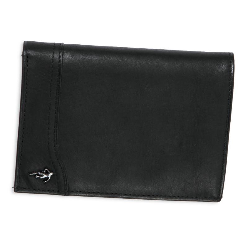 Mini portefeuille en cuir noir